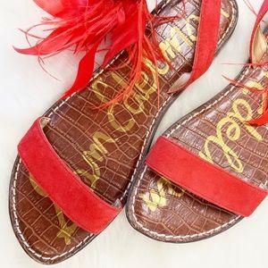 Sam Edelman red summer sandal